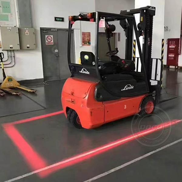 6W Red Zone Forklift Warning Lights