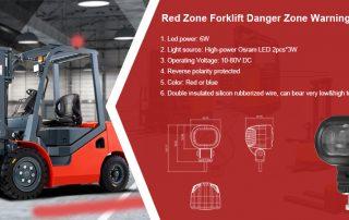 Red Zone Forklift Danger Area Led Safety Warning Light