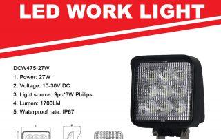 Led Work Light for Trucks, Tractors