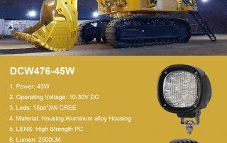 LED Work Light For Mining Trucks