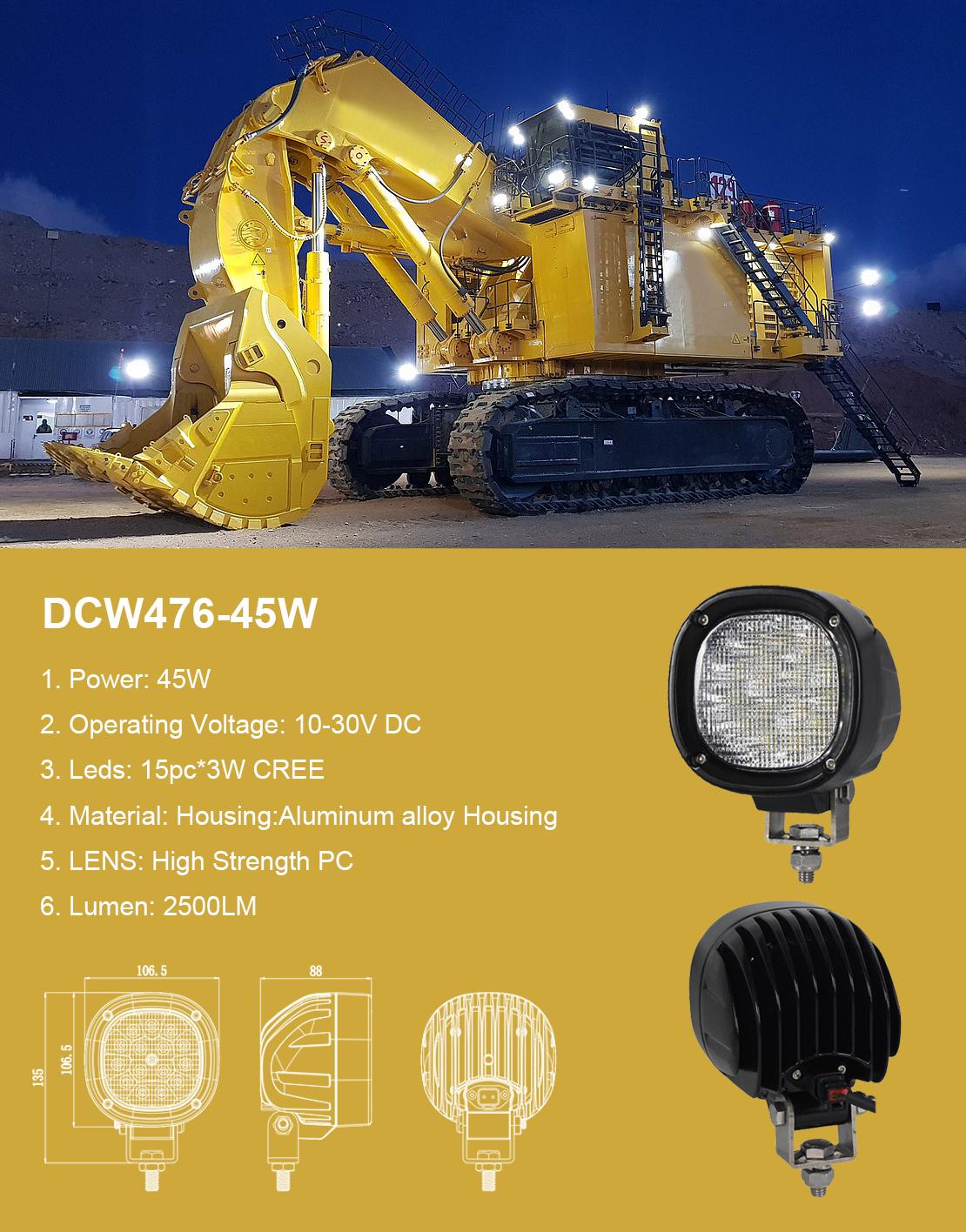 New Arrival LED Work Light For Mining Trucks