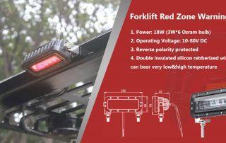Red Zone Forklift Danger Zone Warning Light