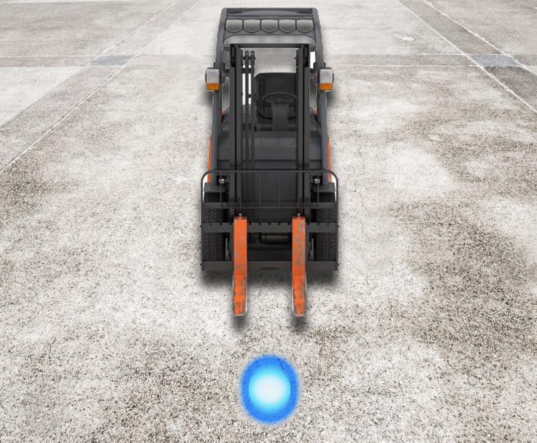 Forklift spot blue light