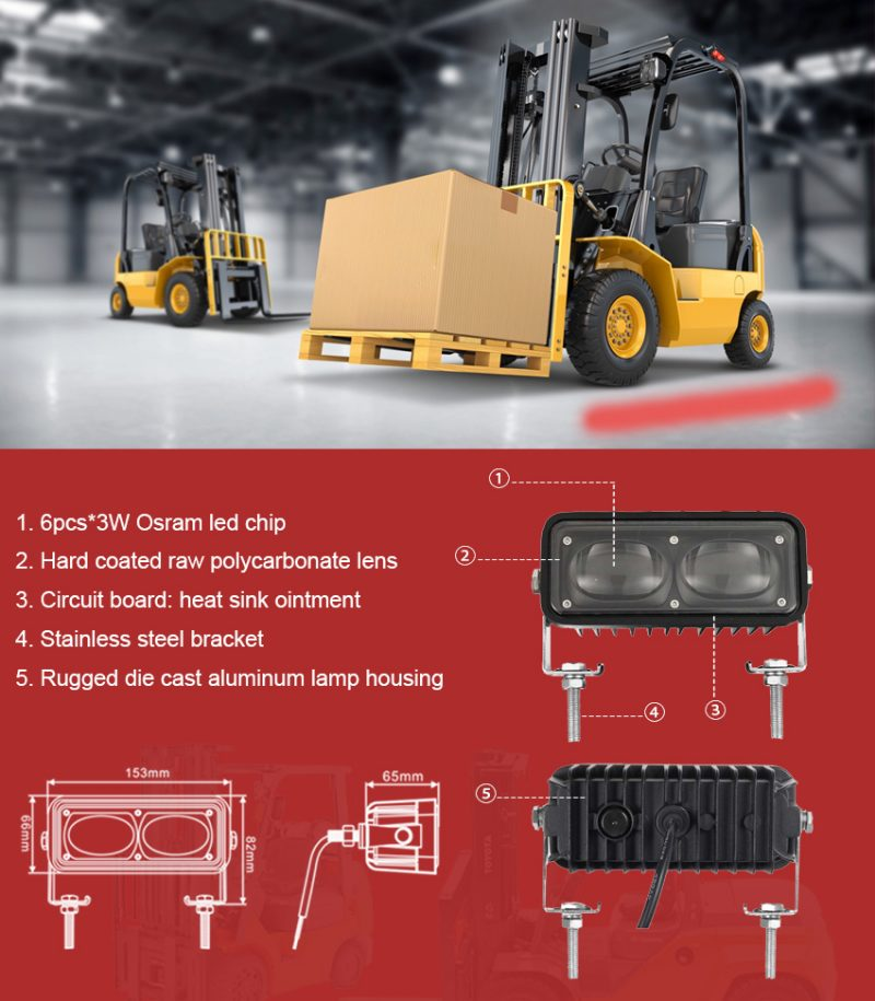 Red Line Forklift Led Safety Lights