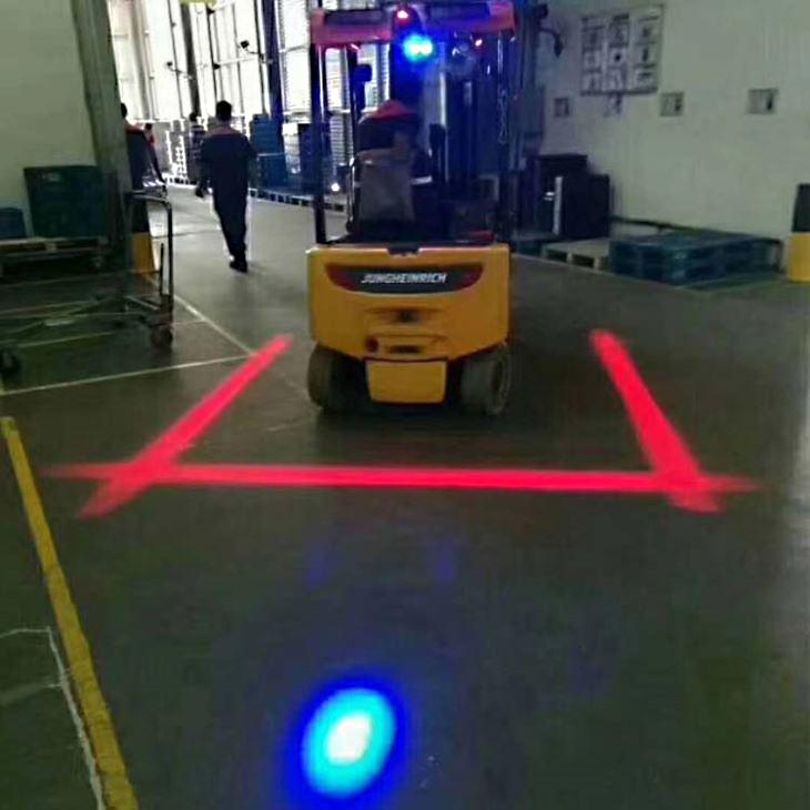 forklift blue safety light